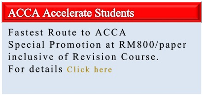ACCA Accelerate Student Promotion